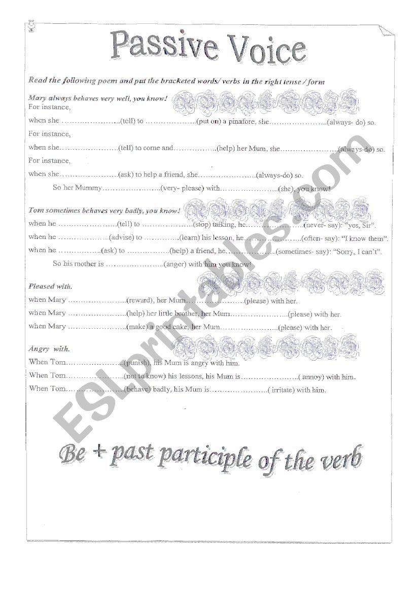 passive voice lesson plan pdf
