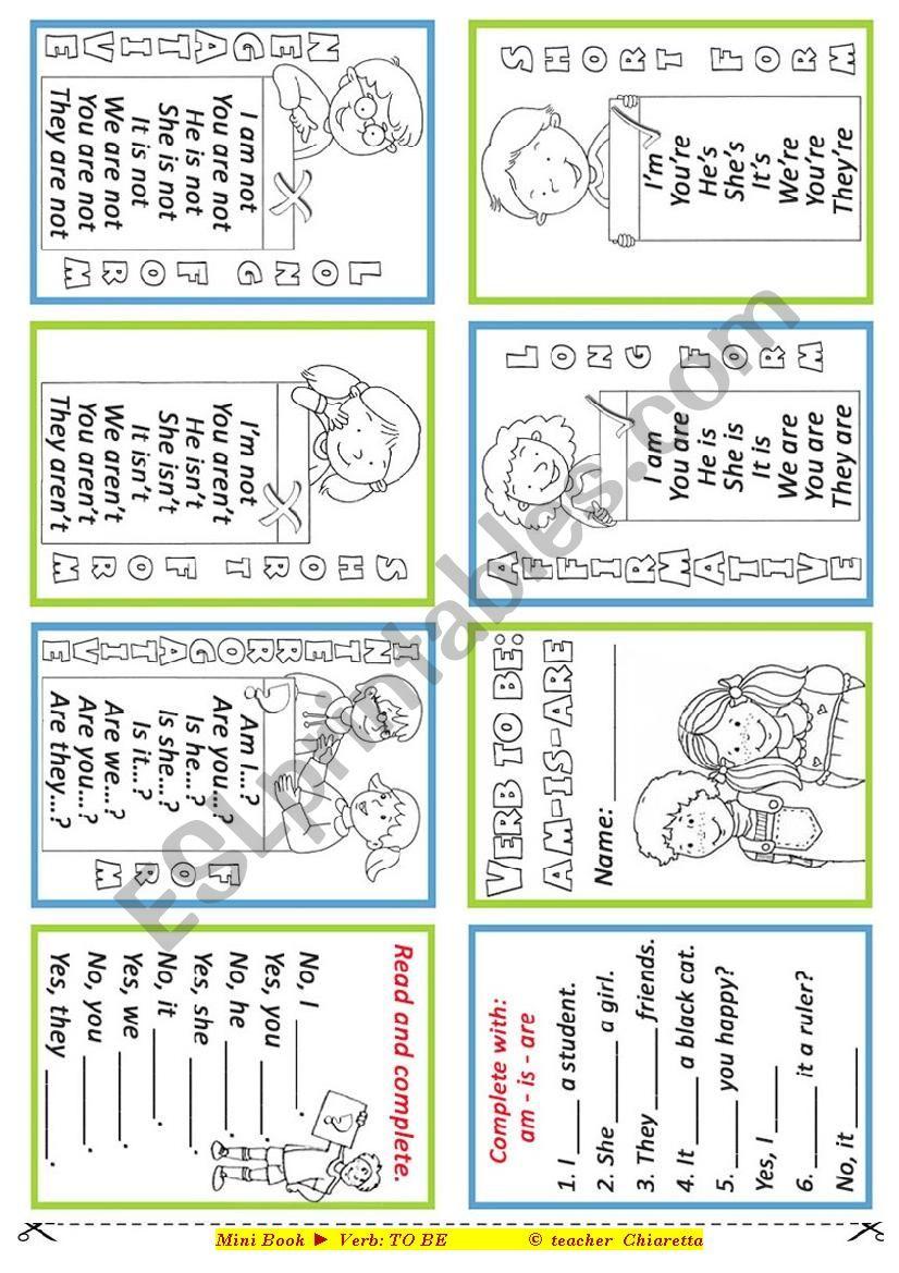 mini - book: TO BE worksheet