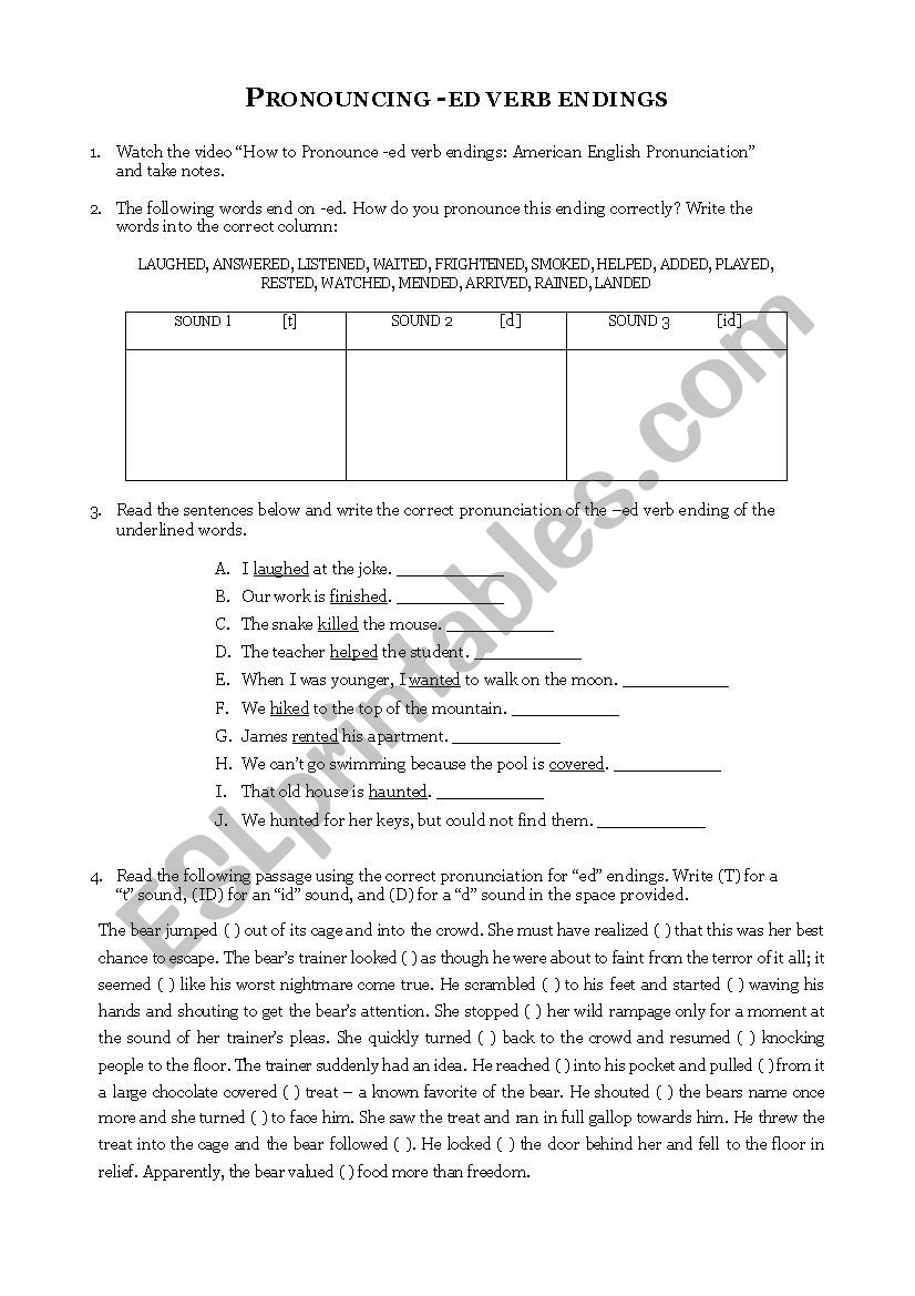 Risultati immagini per ed endings pronunciation worksheet   OG likewise Per Ed Endings Pronunciation Worksheet Worksheets Intermediate besides Pronunciation of  ed   ESL worksheet by Fernandez additionally Alphabet Worksheet Printable Worksheets For Pre 1 Related Ed further Simple Past Tense Regular Verbs   ed Pronunciation Worksheet for 3rd as well  as well Pronunciation Ed Endings Grammar Worksheets Th Worksheet Pdf together with Pronunciation ed endings   ESL worksheet by ale delpotro likewise Pronouncing ed endings   ESL worksheet by bluewintersrose in addition ed ending sounds worksheets further english pronunciation practice worksheets furthermore  together with 5 Letter Words Ending with Ed New 46 Free Ed and Ing Endings in addition Word Sort  Sounds of  ed   Worksheet   Education together with past simple endingd   pronunciation   Interactive worksheet besides . on pronunciation of ed endings worksheets