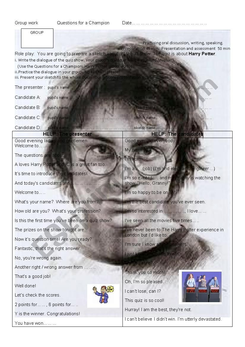 Harry potter dating quizzer