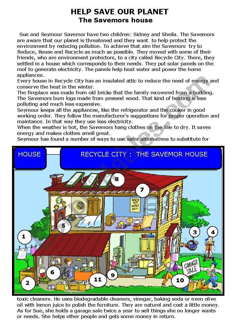 Help save our planet worksheet