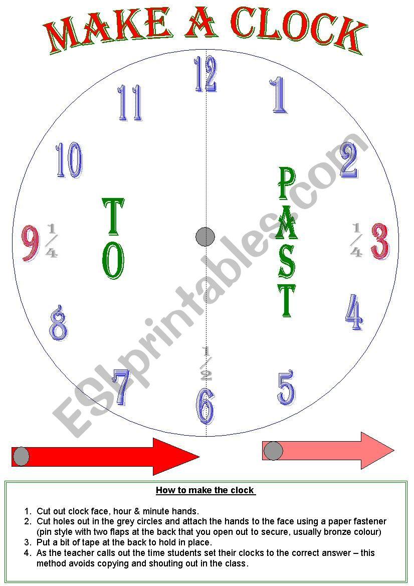 make a clock worksheet
