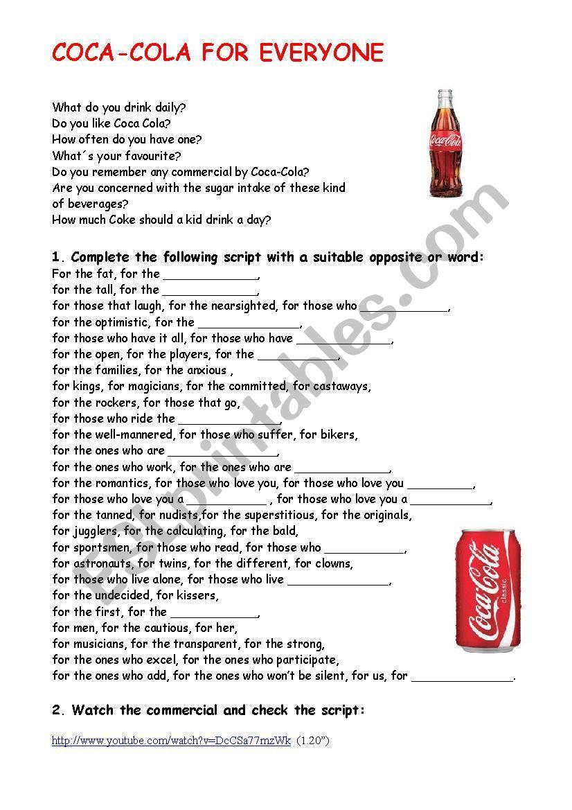 Coca-Cola for everyone - TV ad  (1.20