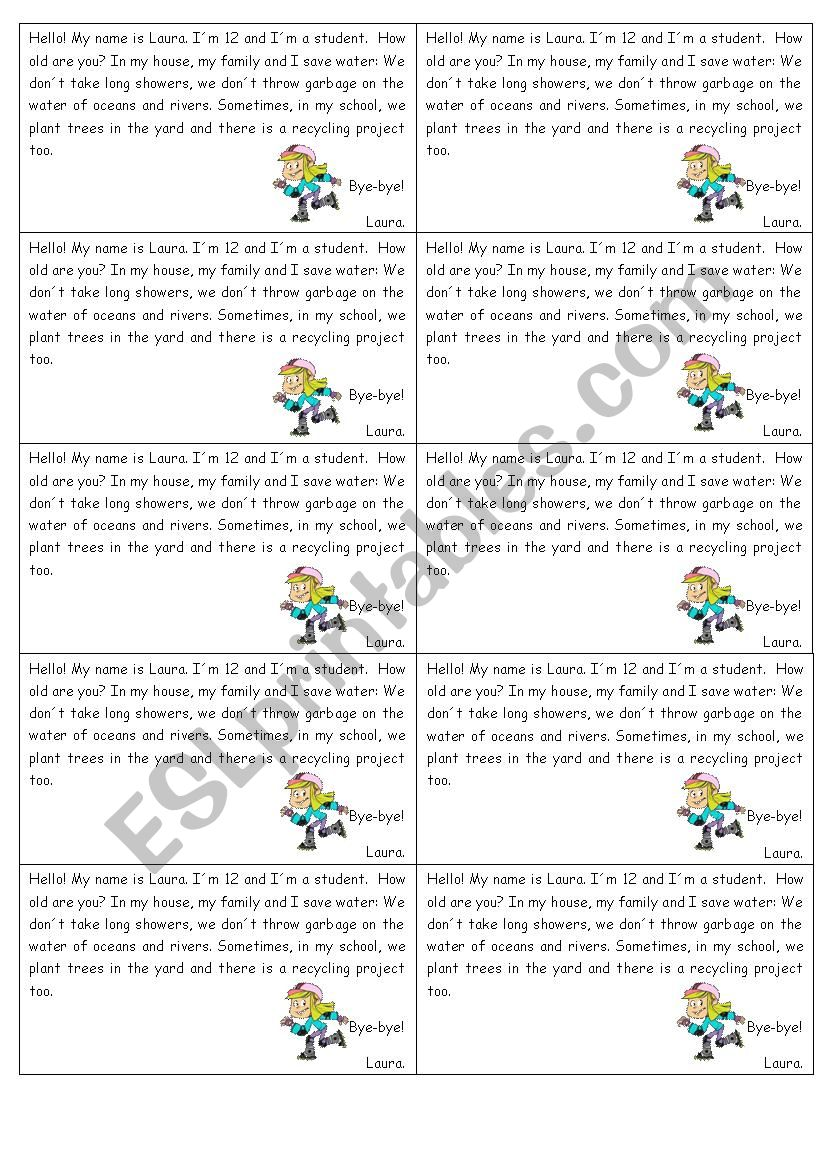 Reading about environment - ESL worksheet by barbarachiote