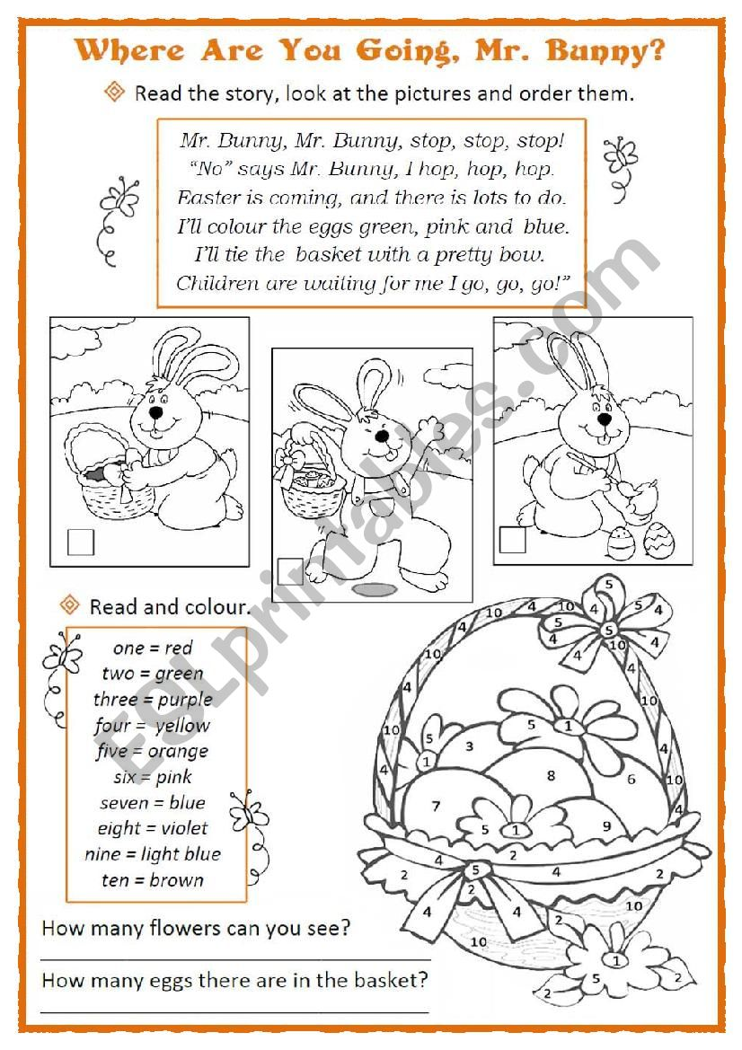 Easter Bunny and the Coloured Eggs