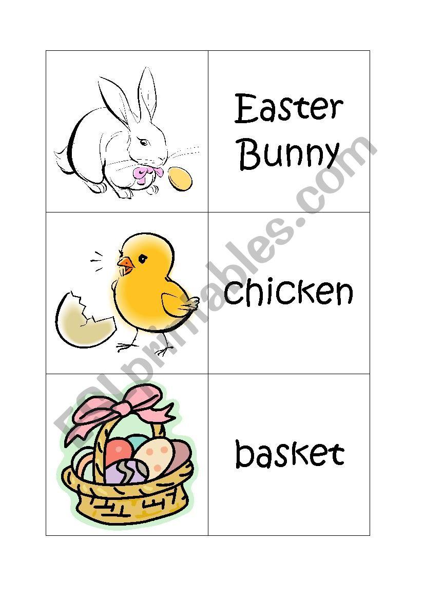 Easter Memory Game worksheet