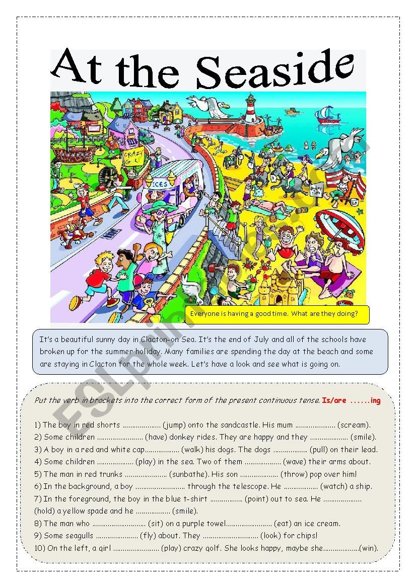 At the Seaside worksheet