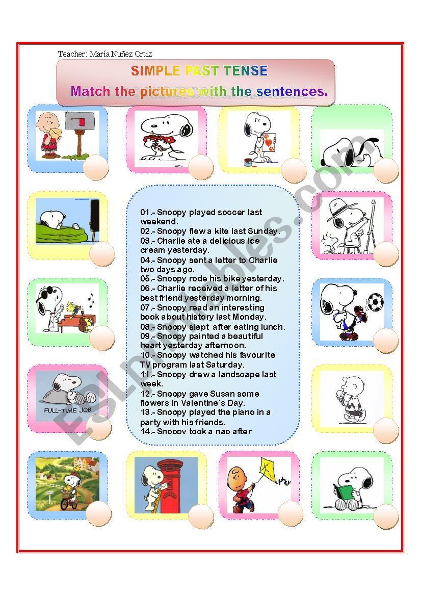 Simple Past Tense Esl Worksheet By Maryano30