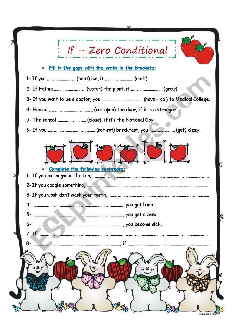 If - Zero Conditional worksheet