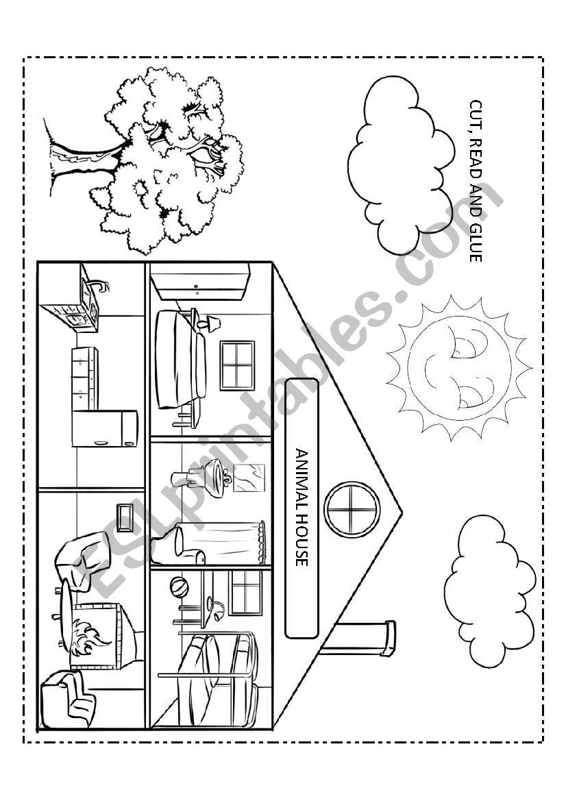 Animal House worksheet