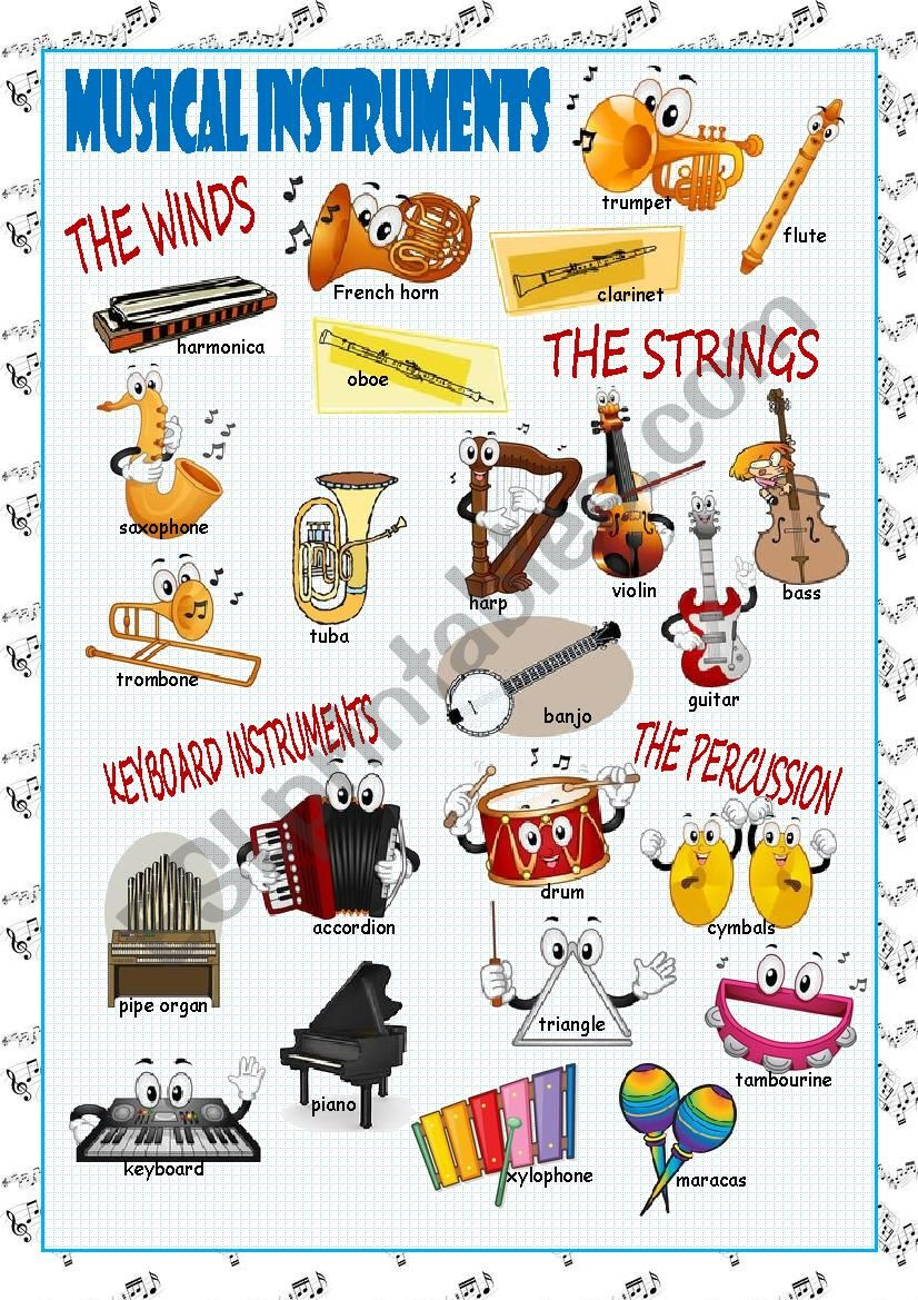 Musical Instruments Picture Dictionary