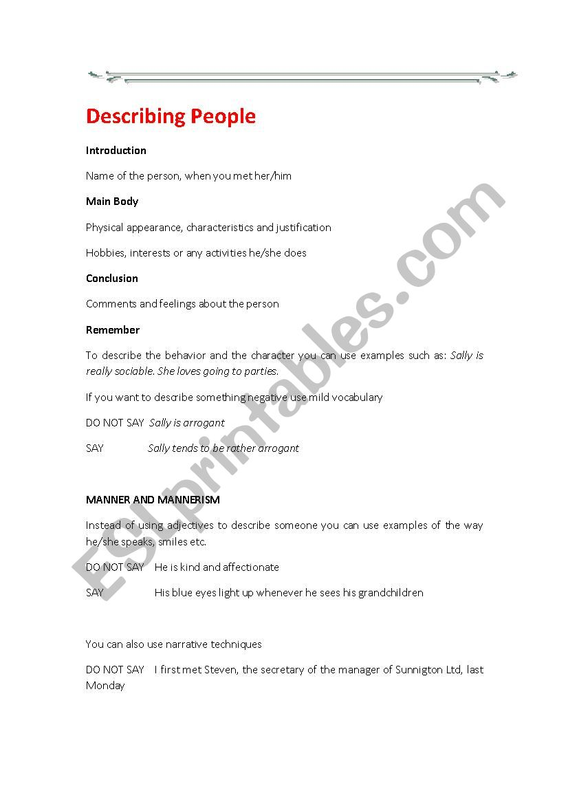 ESSAYS GUIDE worksheet