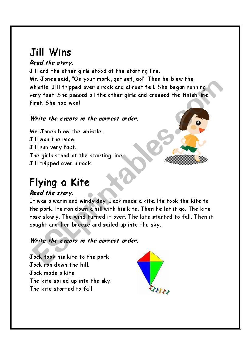 Story Sequencing 1 worksheet