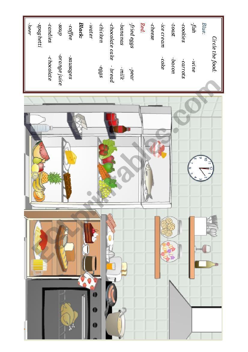 Food Guessing Game worksheet