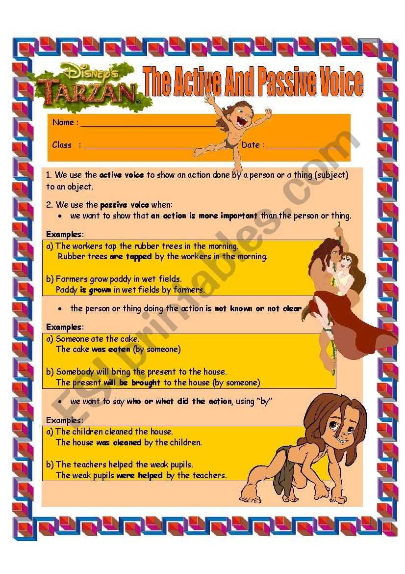 The Active and Passive Voice For Intermediate