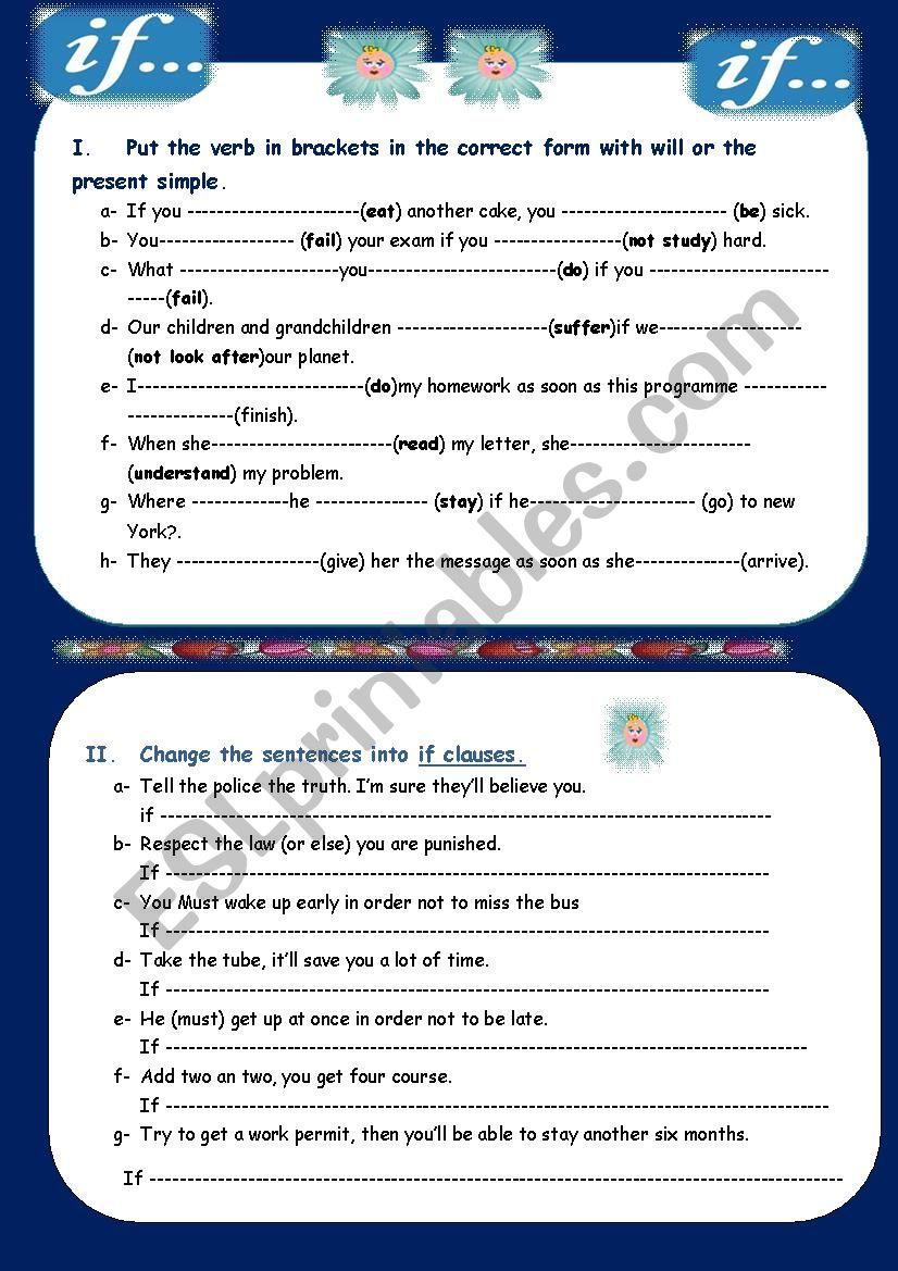 IF (part 1) worksheet