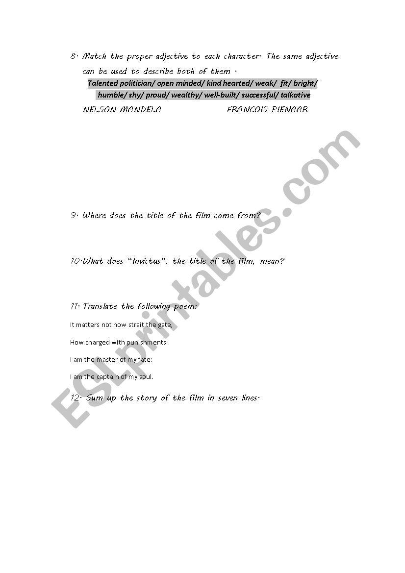 invictus poem explanation