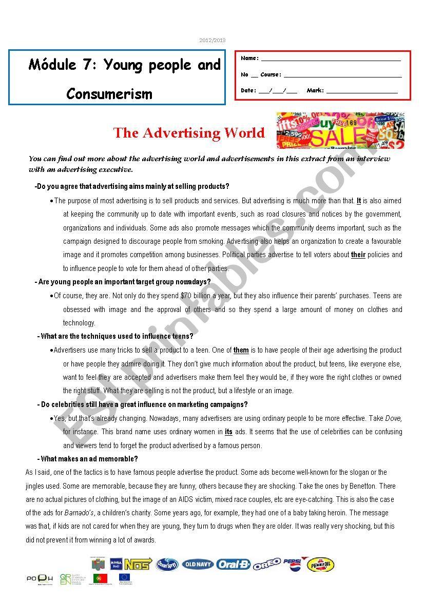 test - M7 -The advertising World