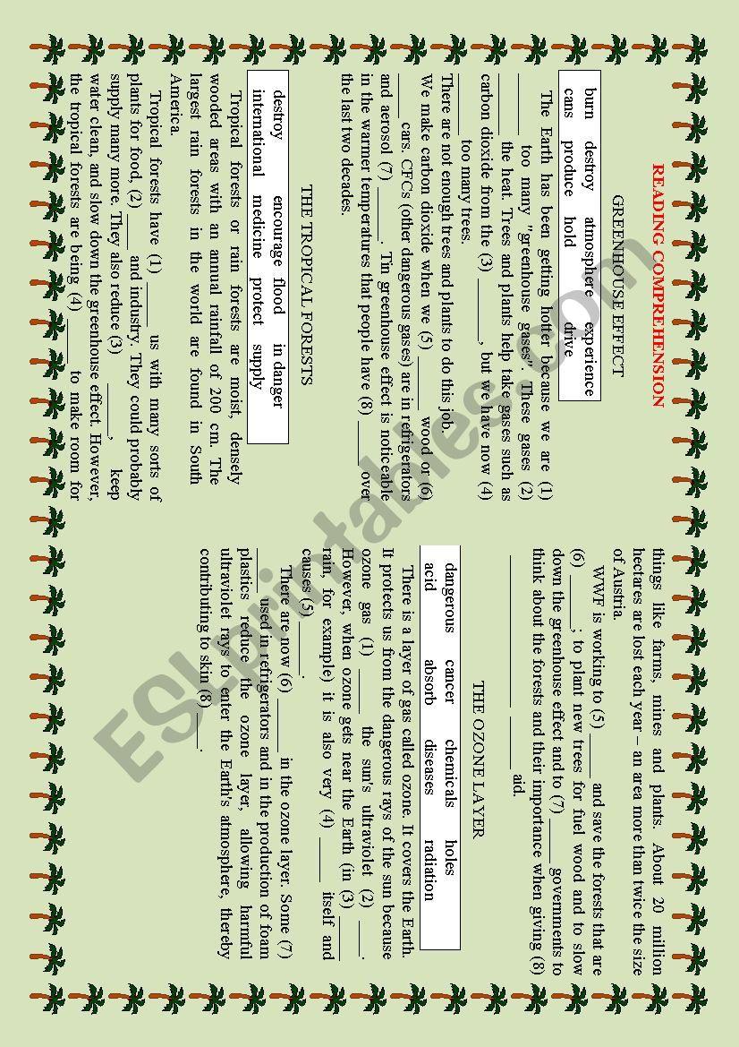 Nature - ESL worksheet by Komarik000