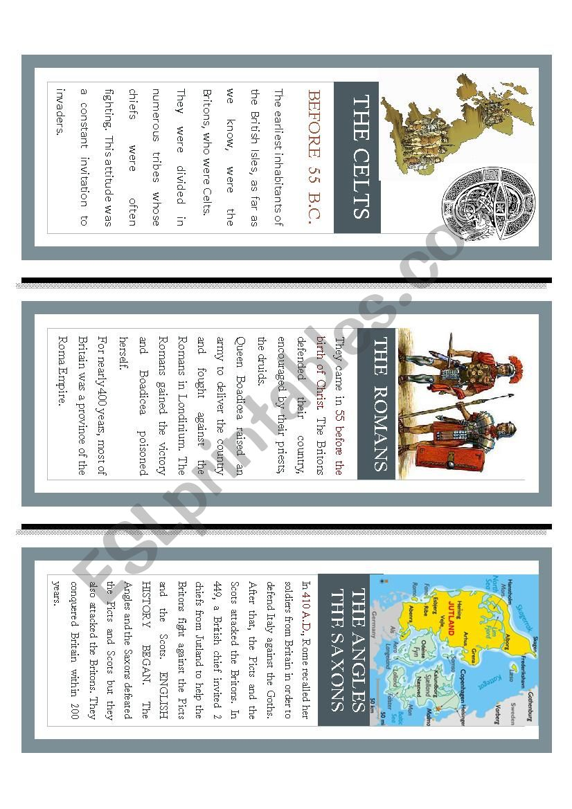 An outline of British History worksheet