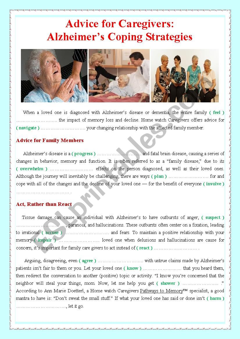 Forum on this topic: Coping Advice for Caregivers, coping-advice-for-caregivers/