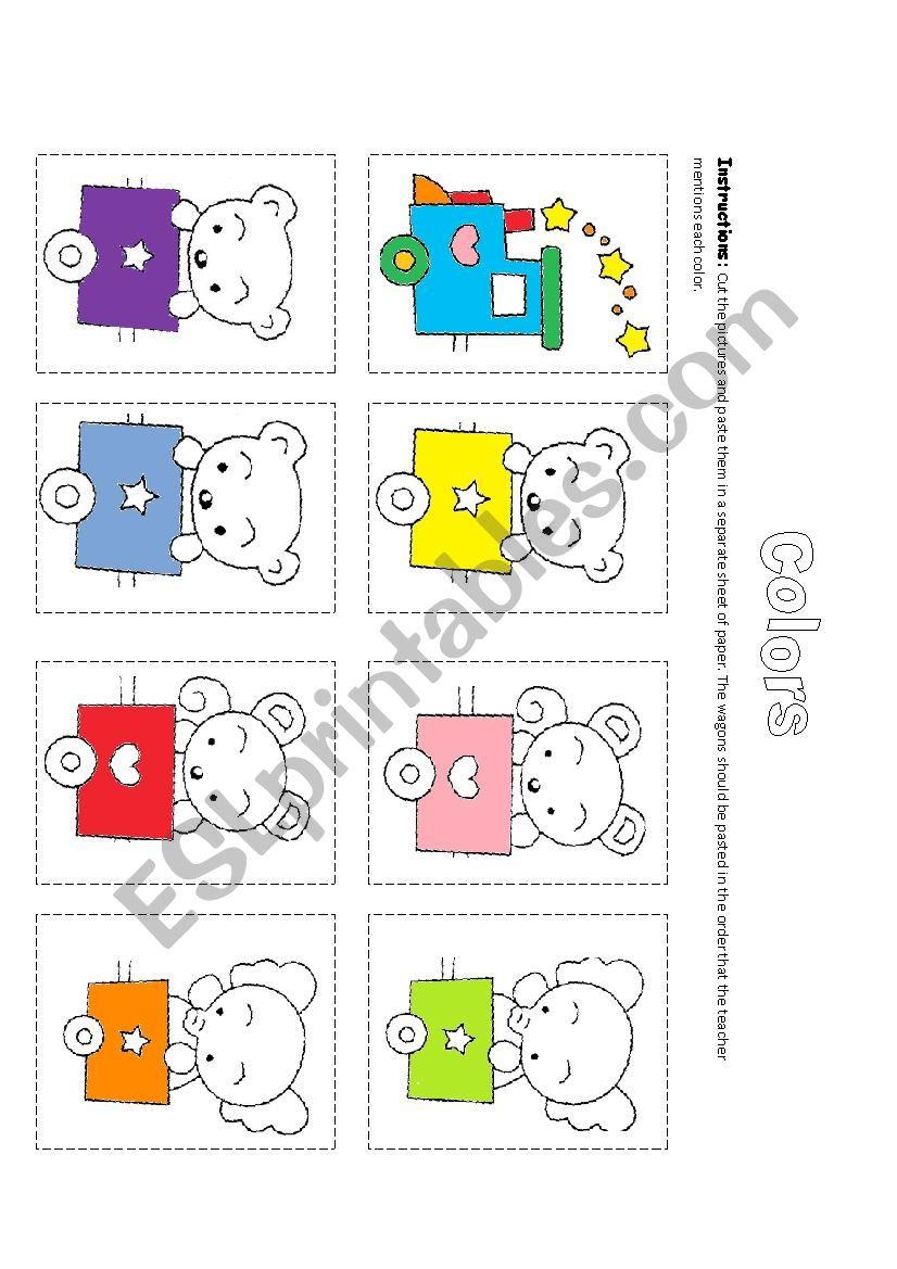 The Colors Train worksheet