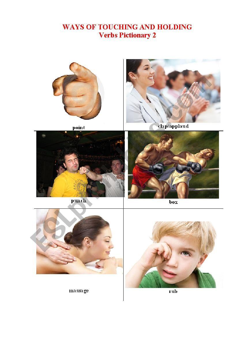 Ways of Touchig and Holding 2 worksheet