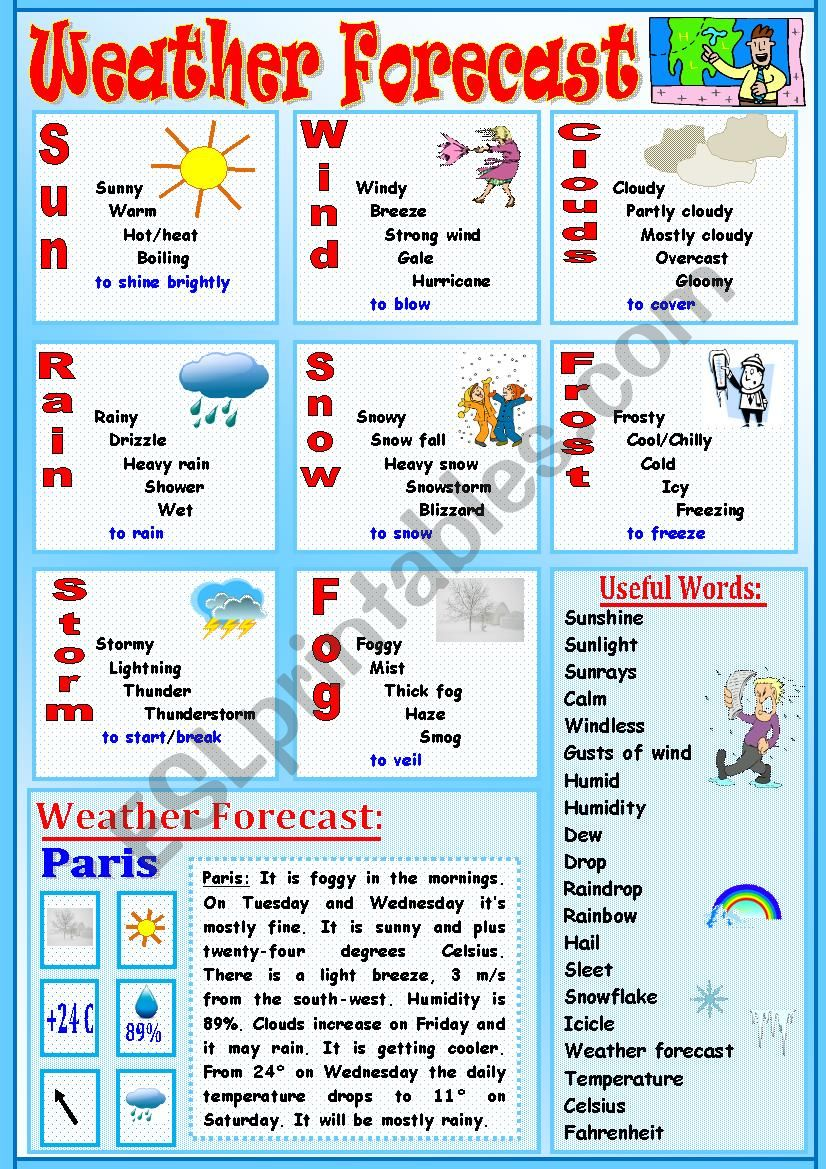Weather Forecast worksheet