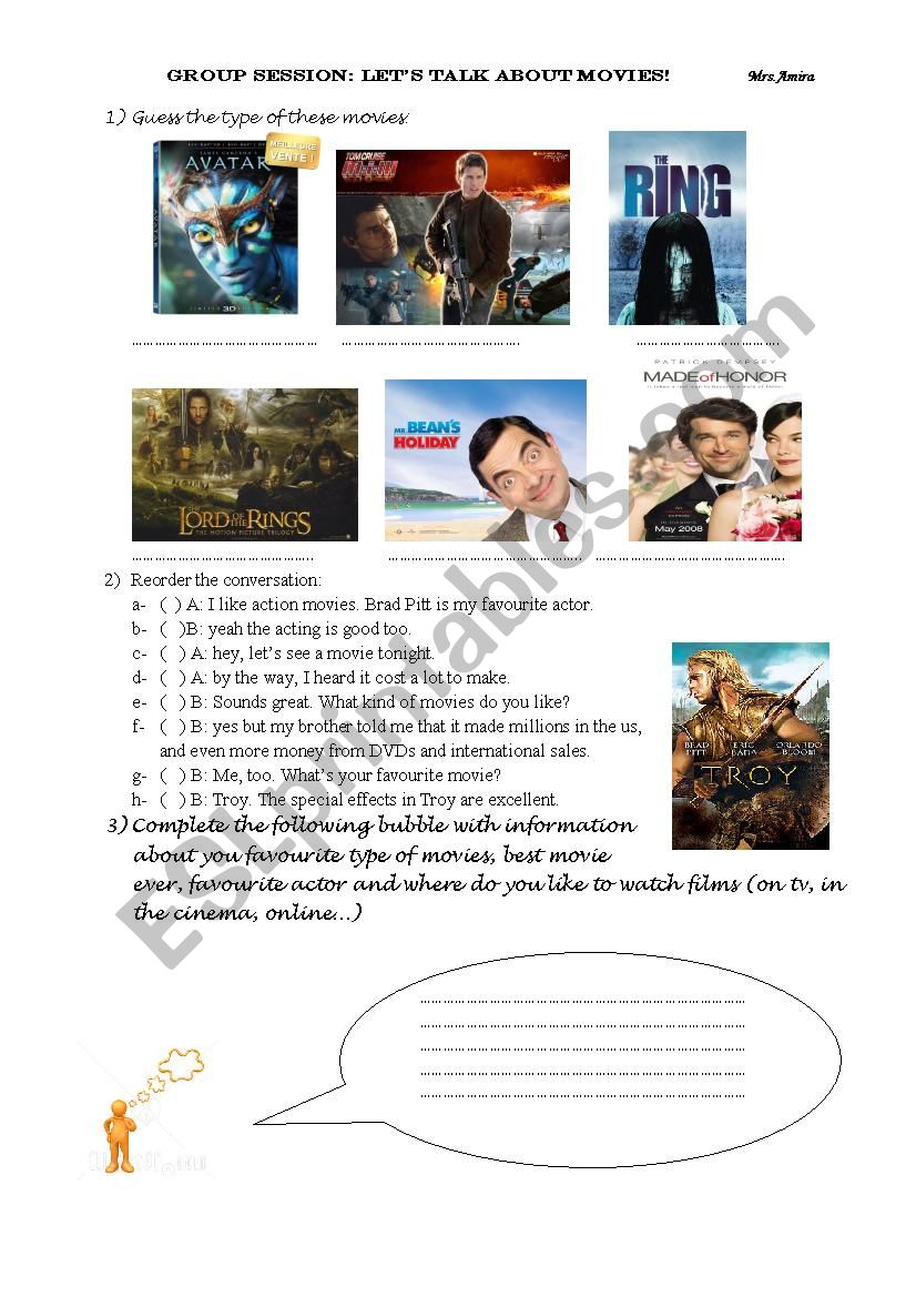 let´s talk about movies worksheet