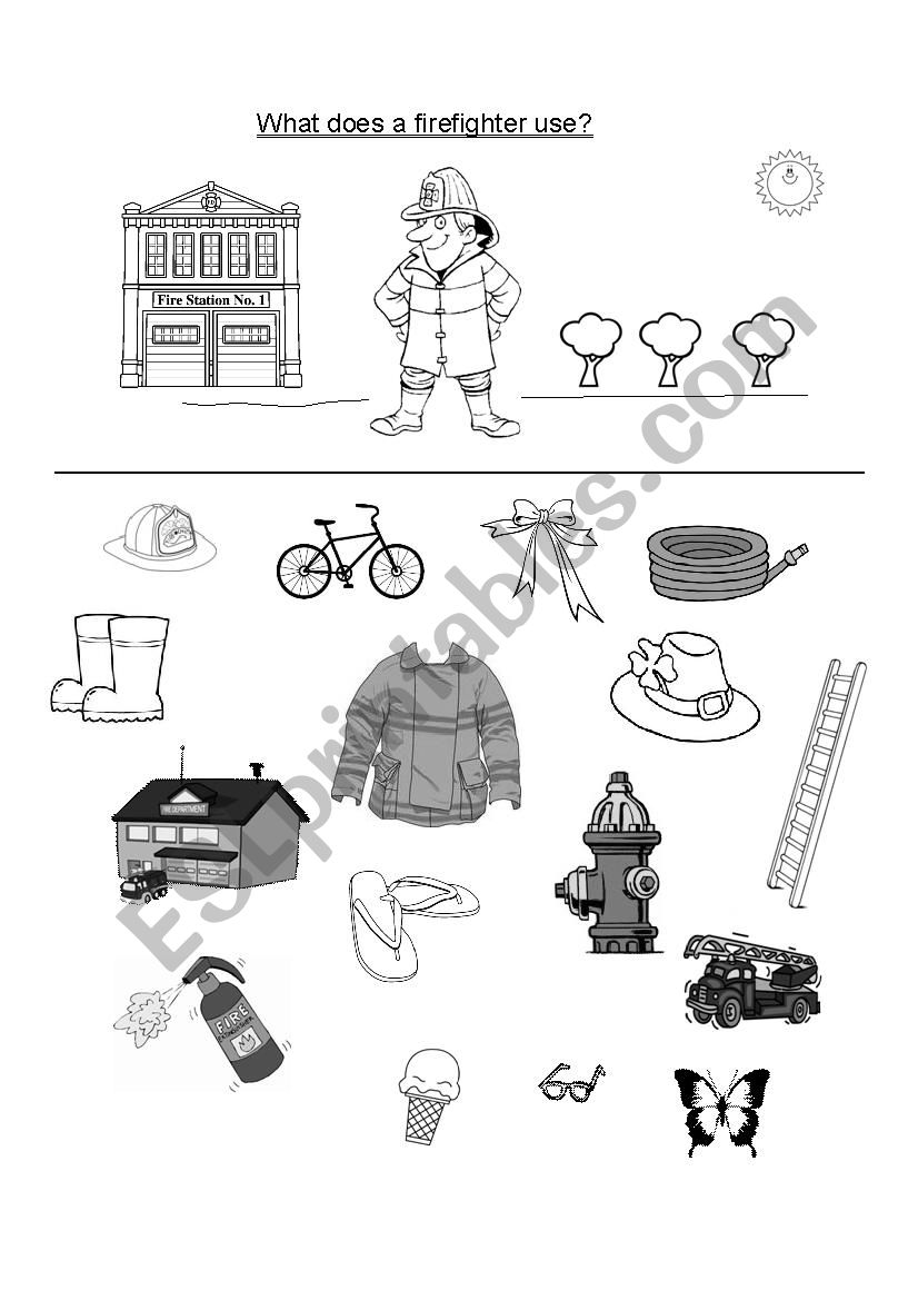 What does a firefighter use? worksheet