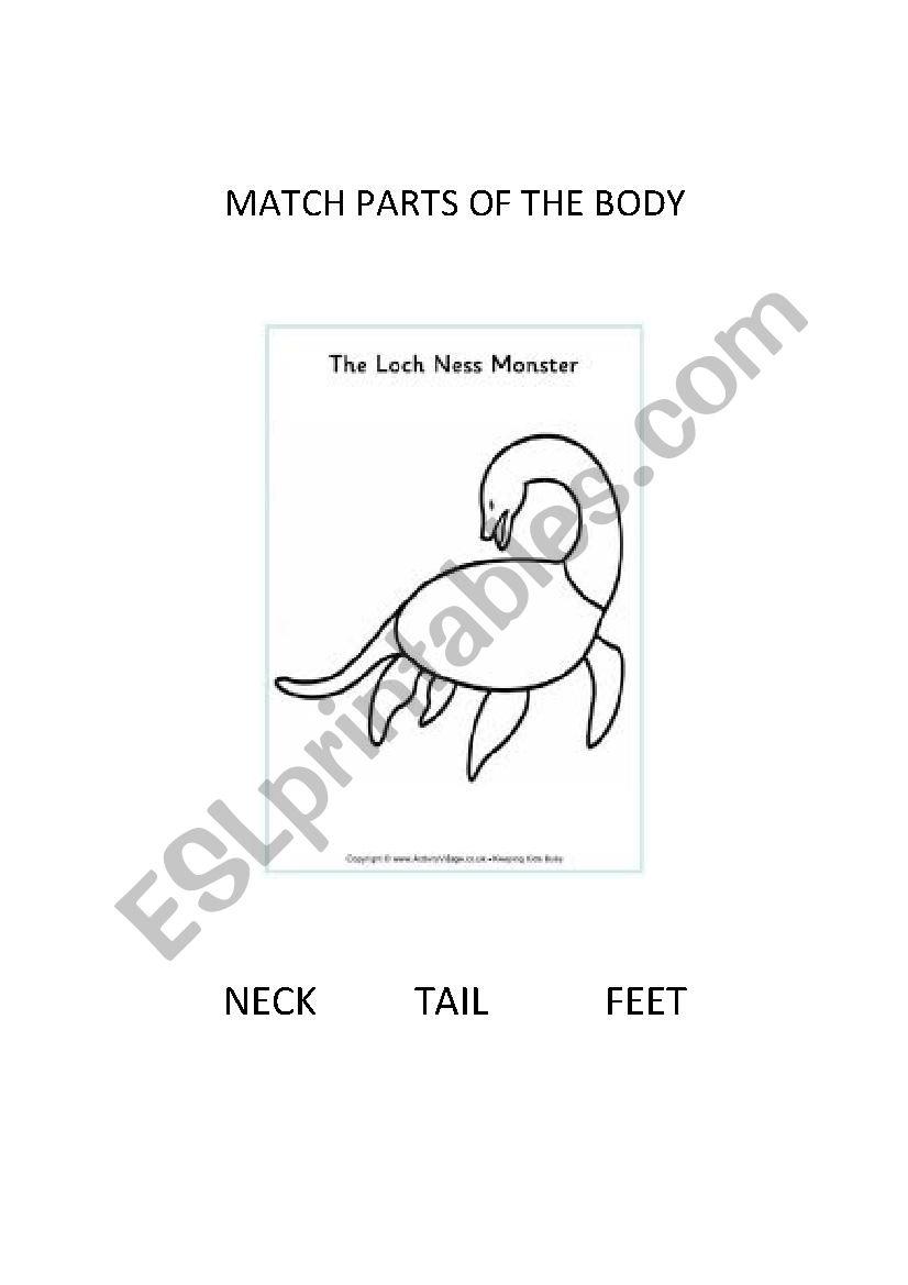 Nessie the Loch Ness Monster worksheet