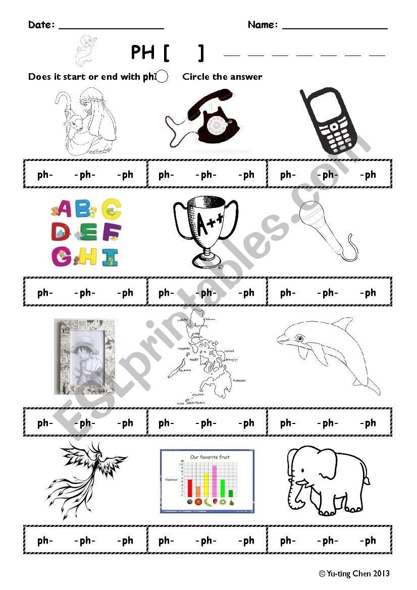 Phonics Ph Esl Worksheet By Extrelia
