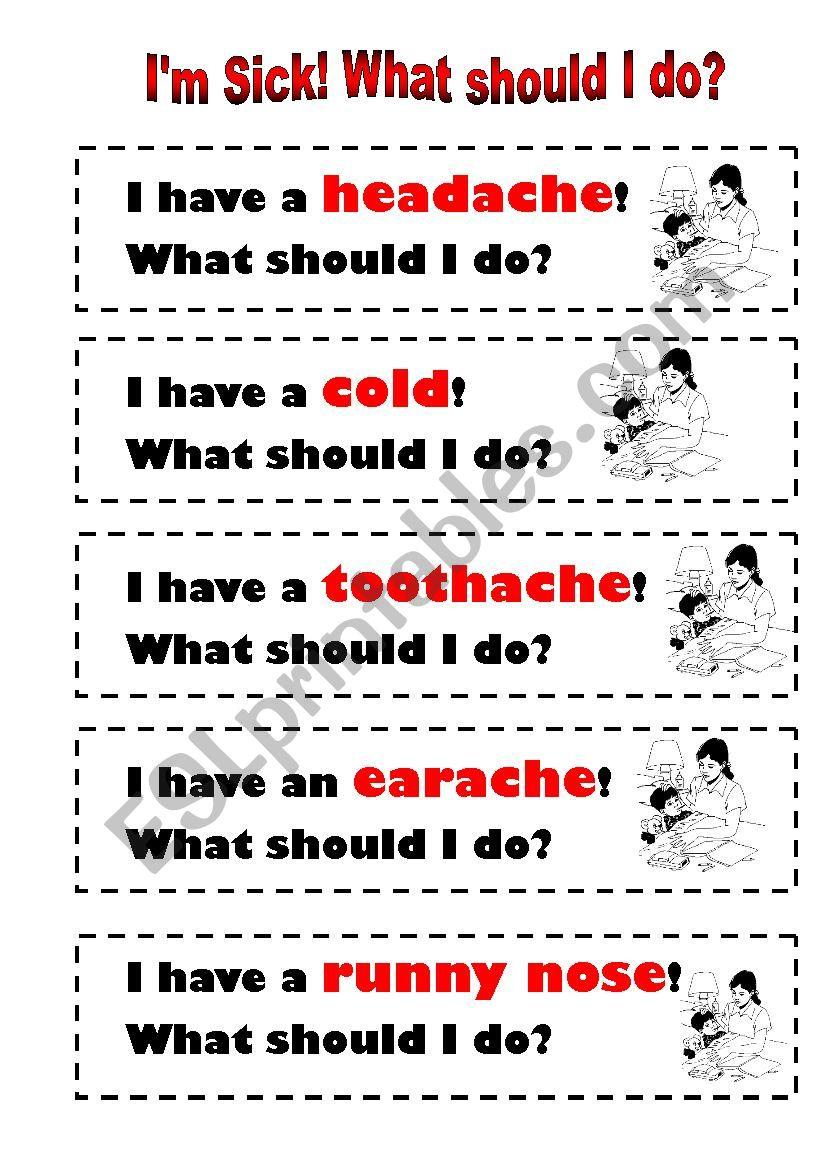 I´m Sick! What should I do? worksheet