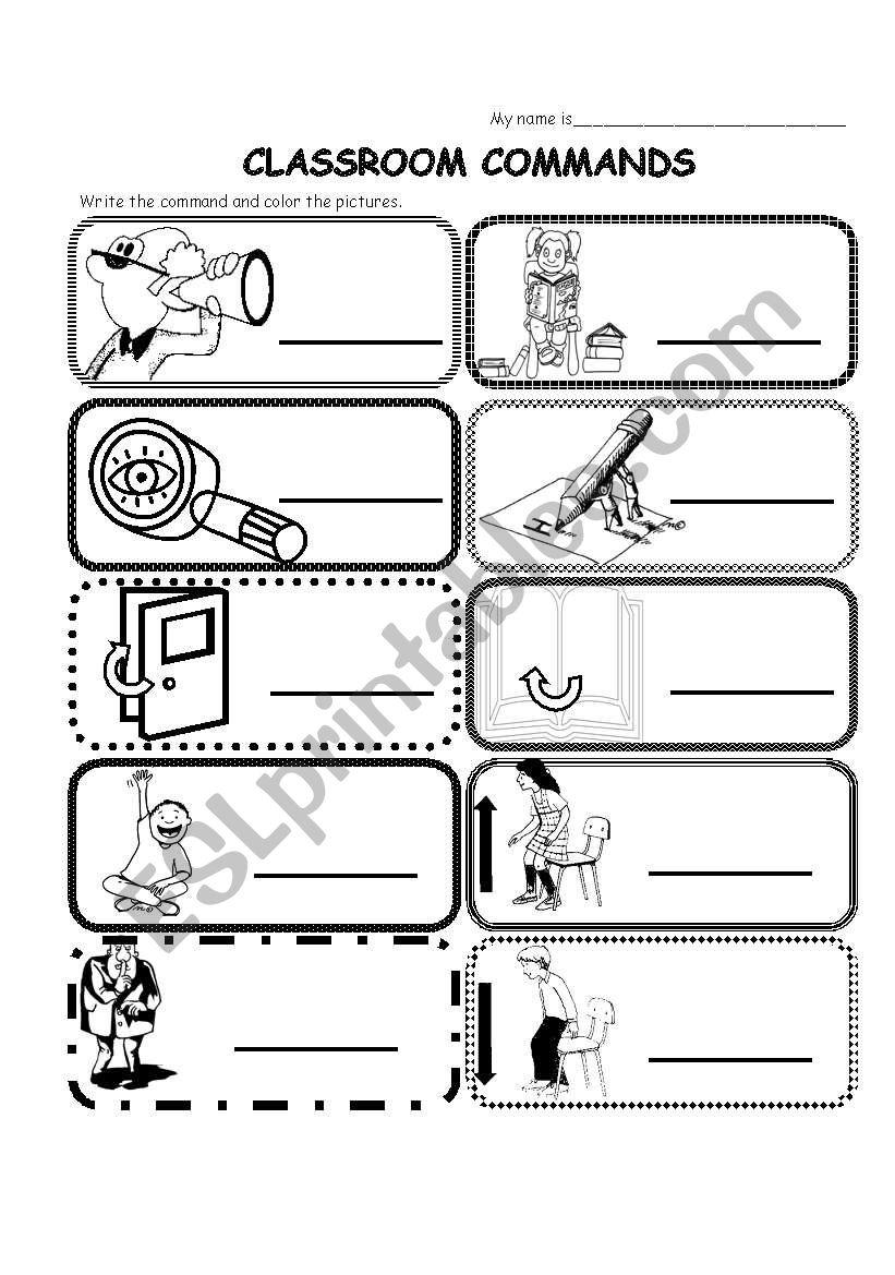 Classroom commands / phrases (easy)