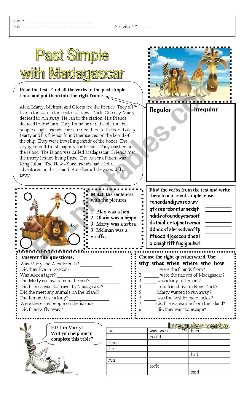 madagascar worksheet