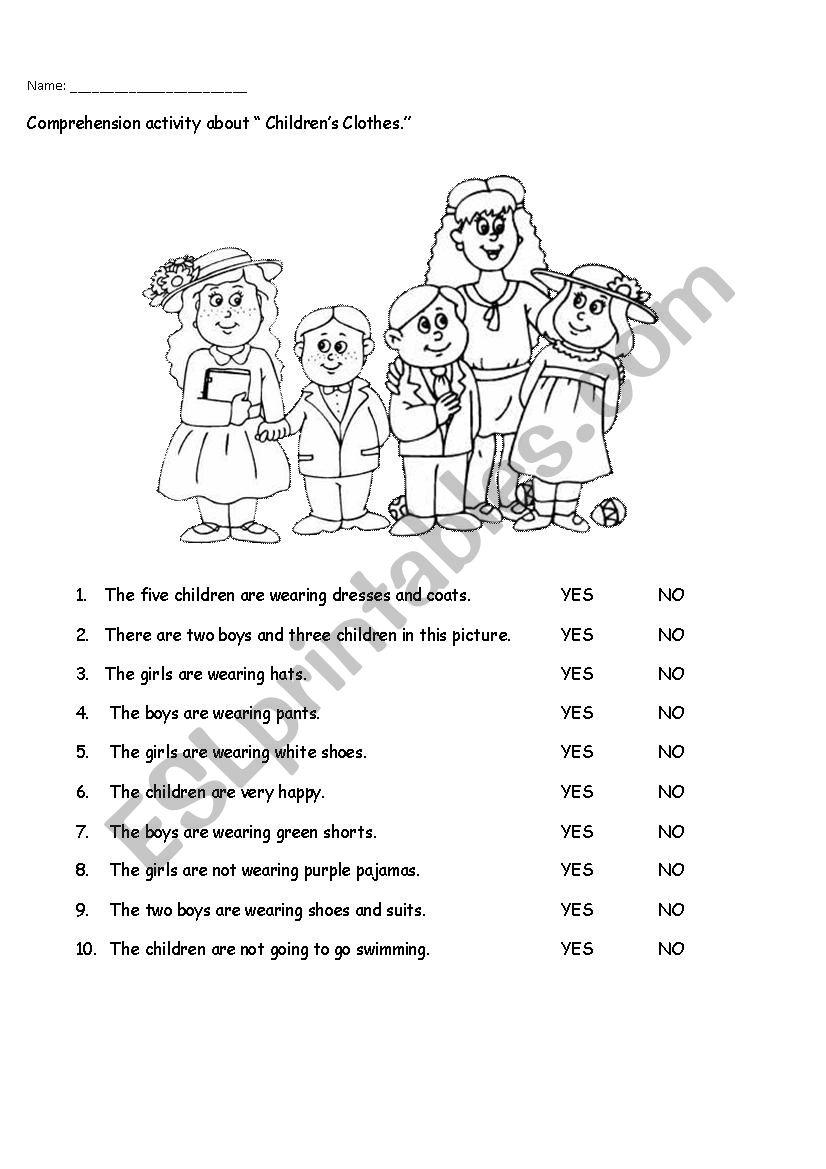 - Reading Activity Children´s Clothes - ESL Worksheet By MagnumLea