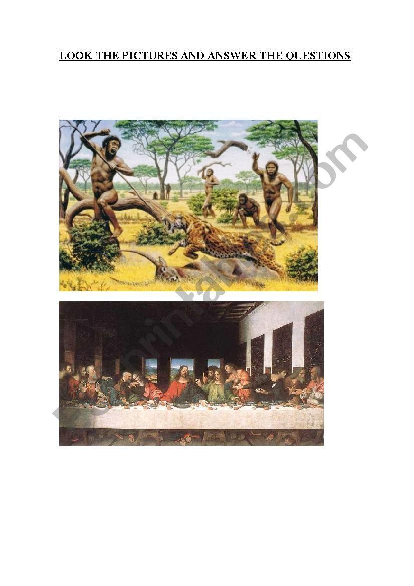 Prehistory & Da Vinci worksheet