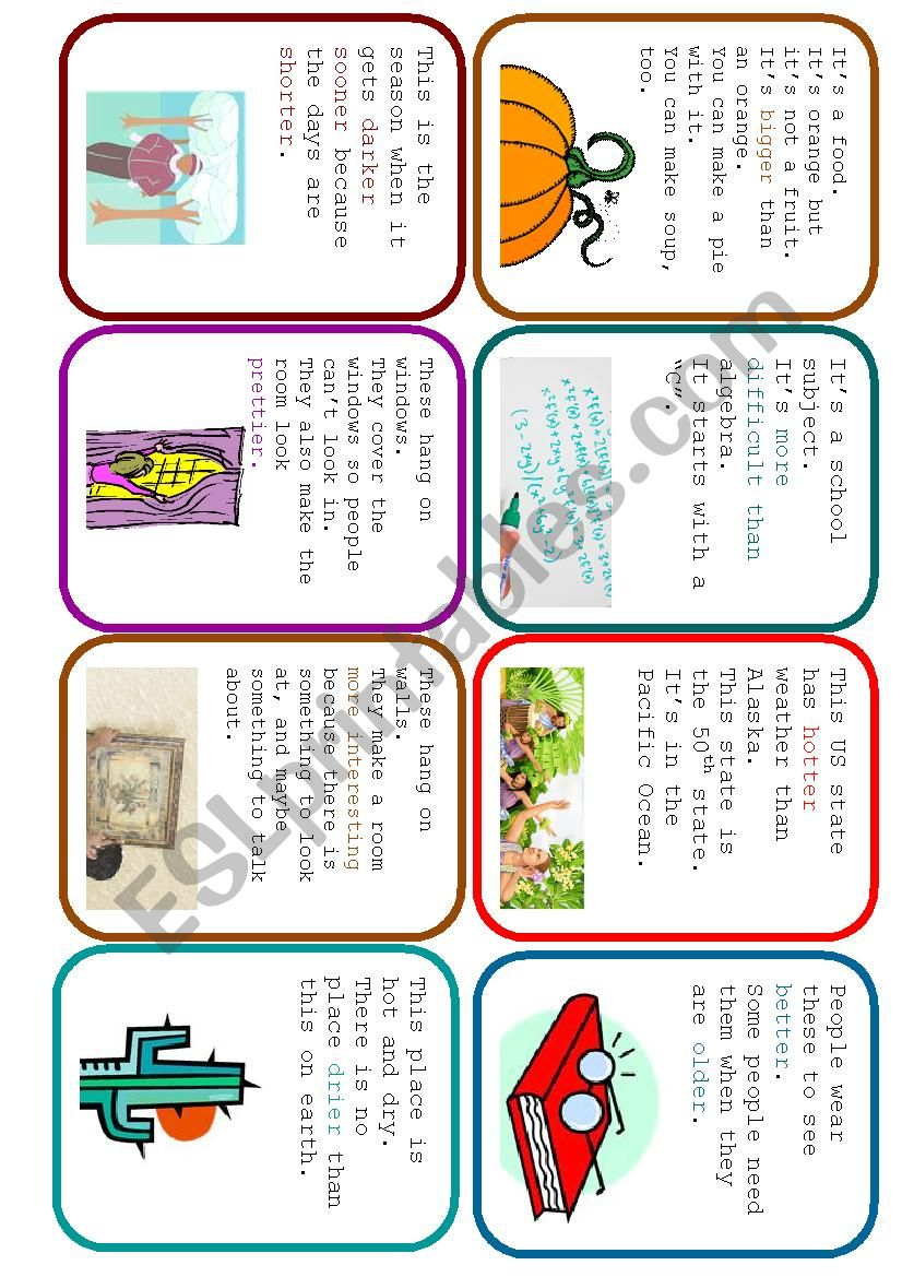 Easier Said Than Done - Comparative Guessing Card Game (1/2)