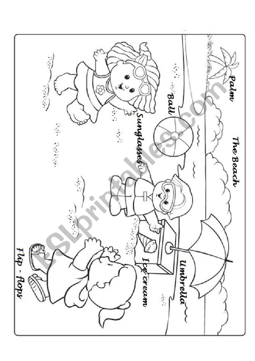 Summer for young learners worksheet