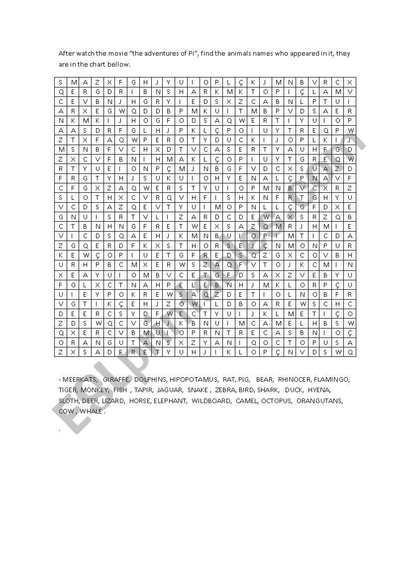 word game  worksheet
