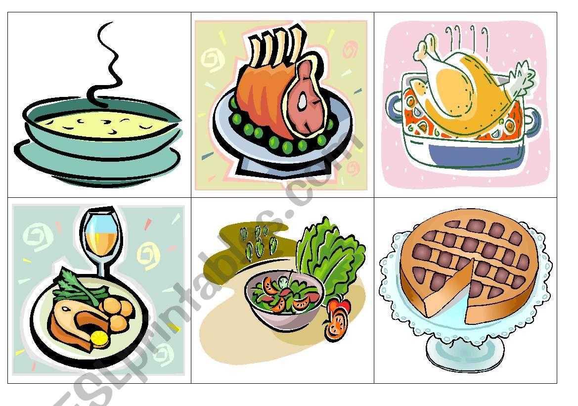Lunch flash-cards worksheet
