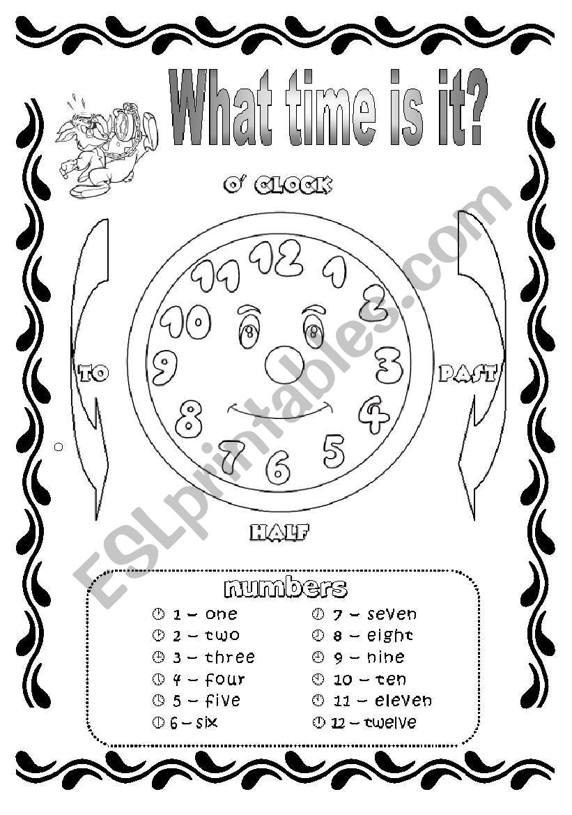 Time and Hours worksheet