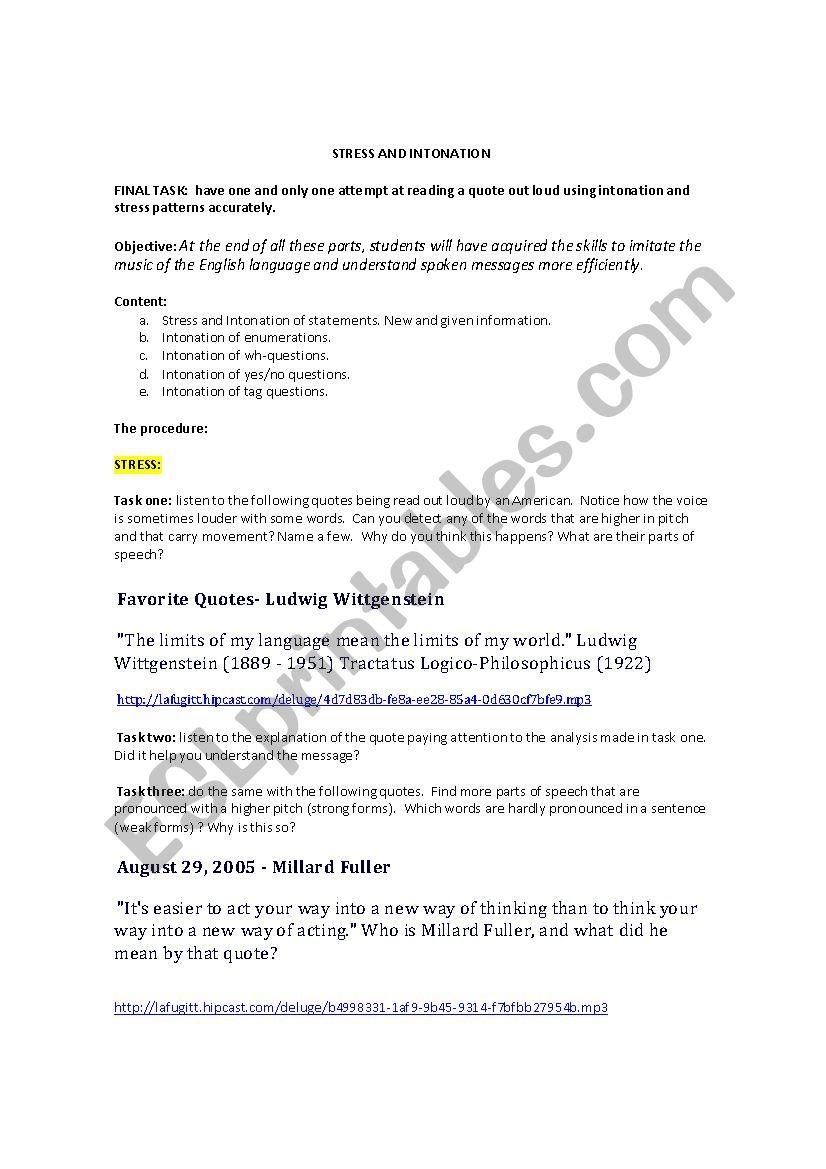 stress and intonation esl worksheet by marycap. Black Bedroom Furniture Sets. Home Design Ideas