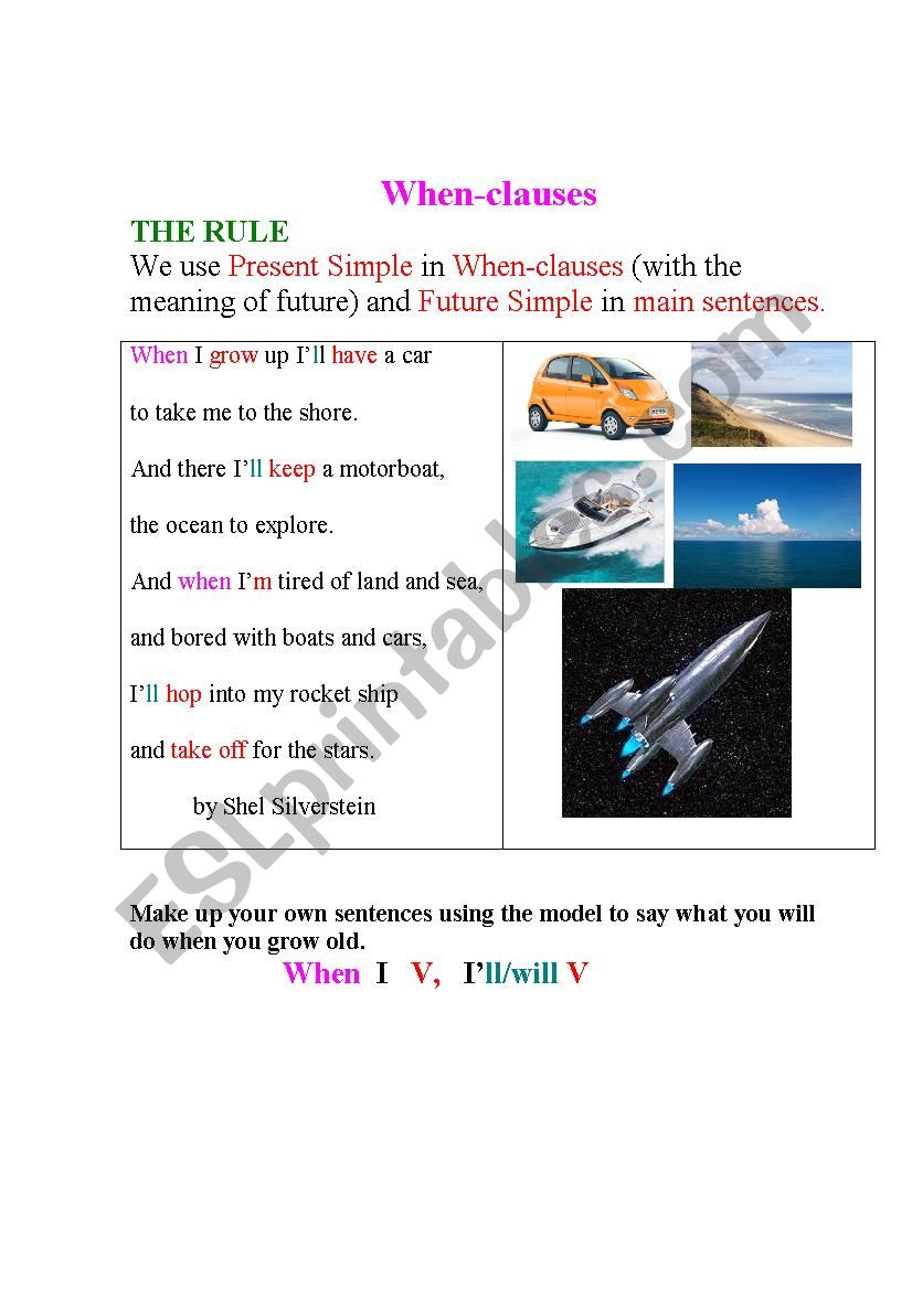 WHEN-CLAUSES (a poem + an exercise)