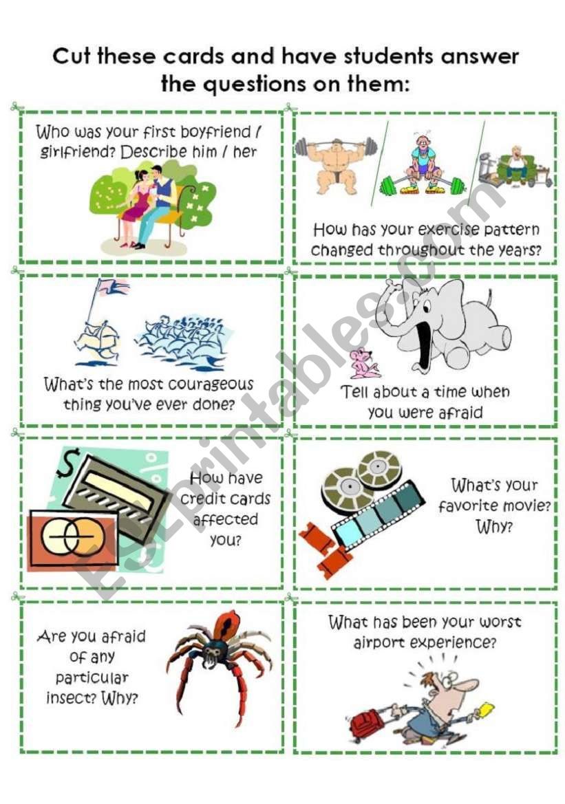 Conversation Cards 4 of 8 worksheet