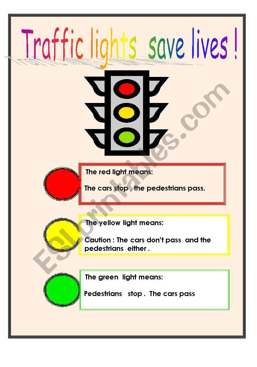 Traffic Light Worksheet Kindergarten | www.lightneasy.net