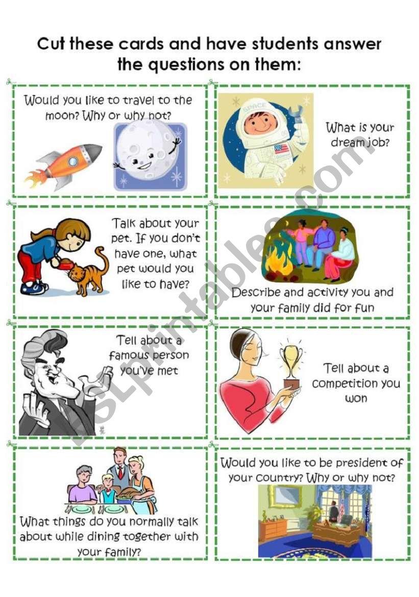 Conversation Cards 5 of 8 worksheet