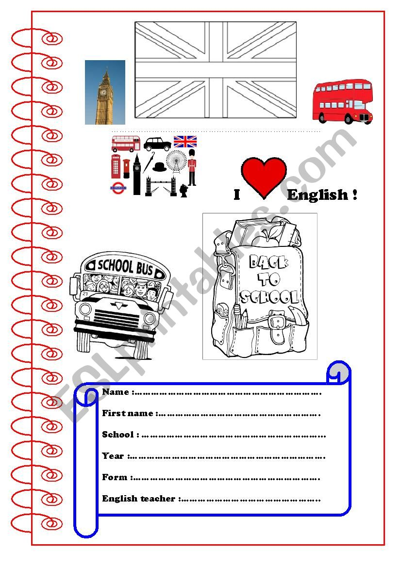 copybook first page worksheet