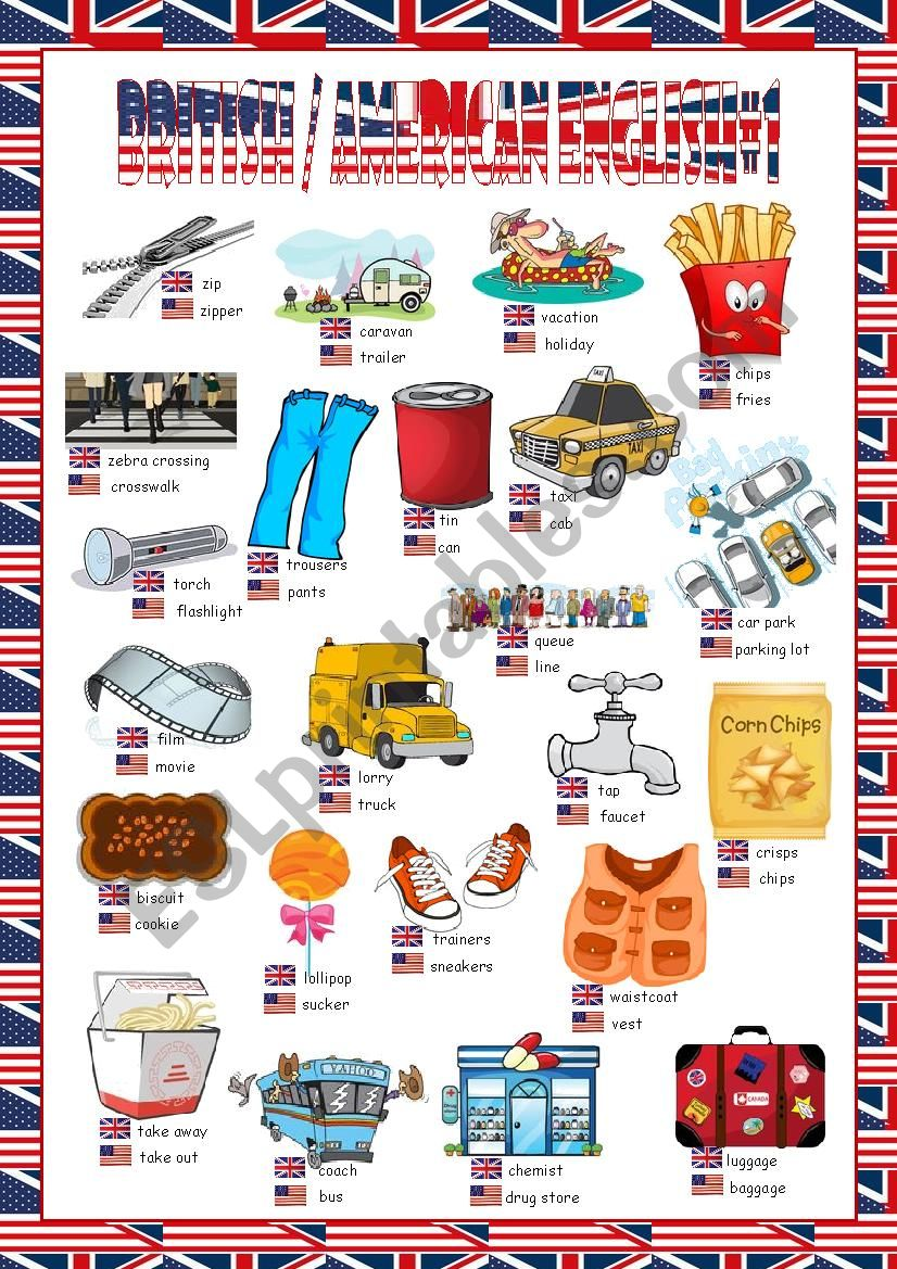 British/American English Picture Dictionary#1