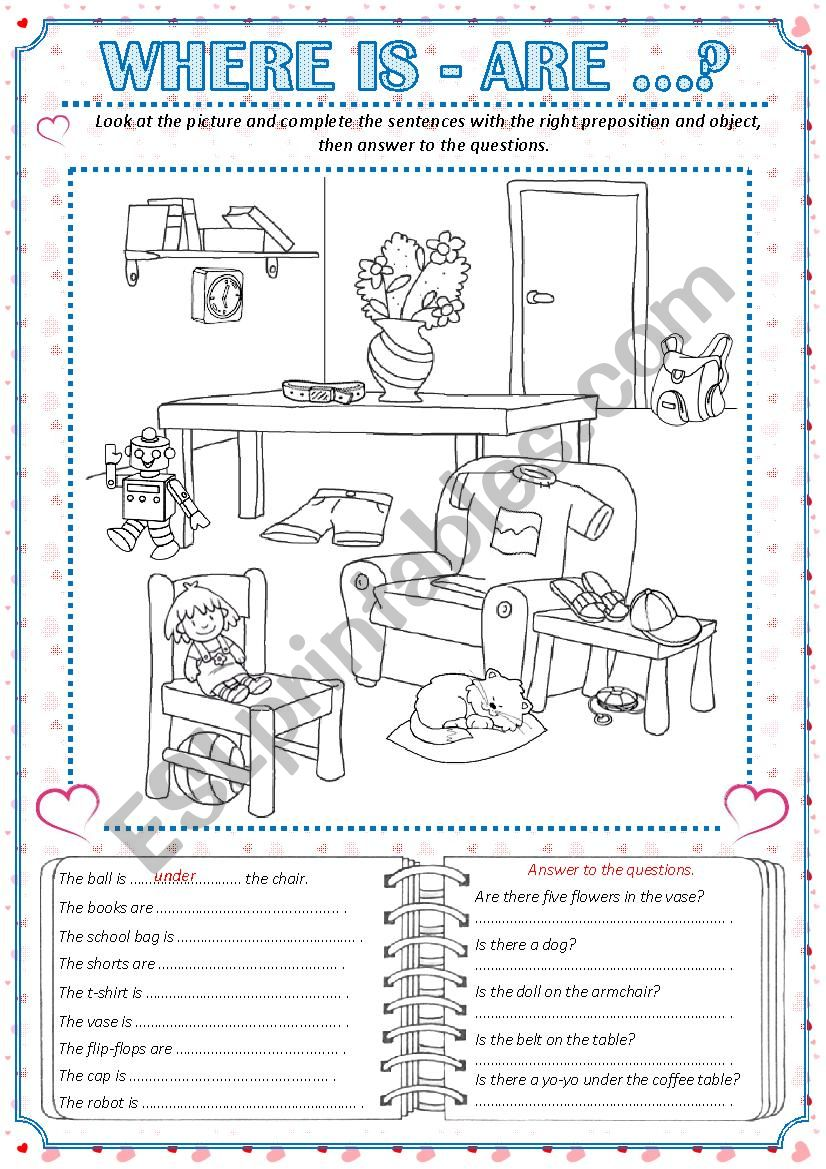 WHERE IS - ARE ...? worksheet